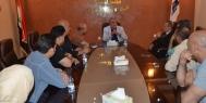 رئيس مجلس الامناء يستقبل العاملين في وكالة الانباء العراقية