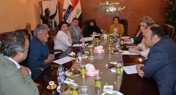 اجتماع لجنة الثقافة والاعلام النيابية مع رئيس وأعضاء مجلس امناء شبكة الاعلام العراقي