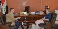 ابو الهيل يناقش مع الدملوجي وضع شبكة الاعلام وتنفيذ خطط التطوير والاصلاح فيها